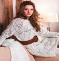 Вяжем ажурное платье спицами
