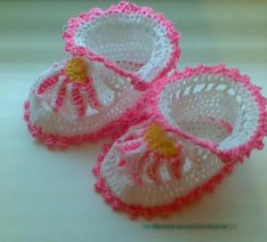 как вяжутся пинеточки для дочки