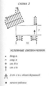 схема вязания собачки