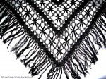 Вязаная шаль Хризантемы