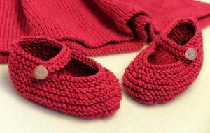вязаные туфельки и пинетки