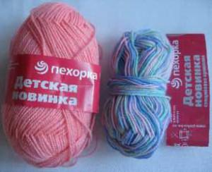 Пряжа для вязания двухцветного жакета