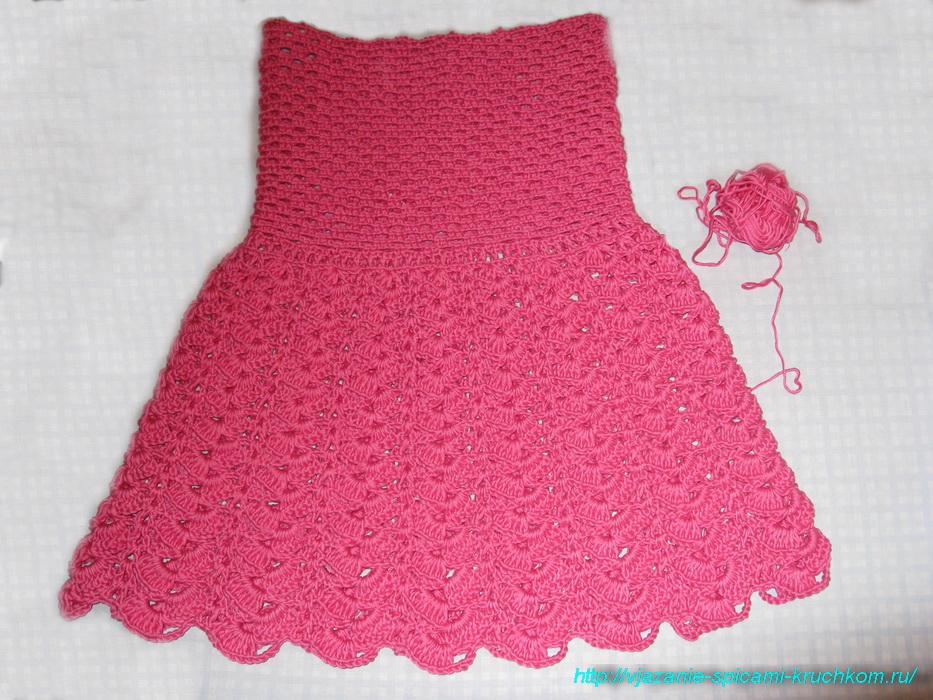 Вязание юбочка для девочки 5 лет 12