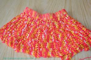 Вязанная юбочка для девочки.
