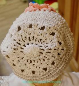 Вязанная шапочка крючком