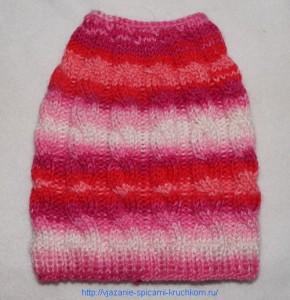 Связанное полотно для шапочки